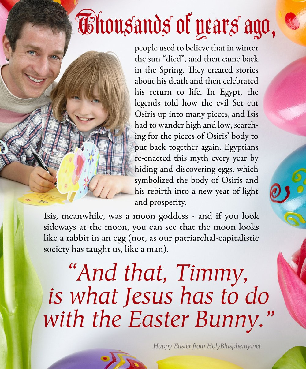 What do Jesus and the Easter Bunny Have in Common?